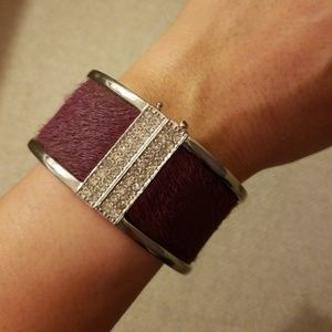 Ann Taylor silver and purple bangle cuff